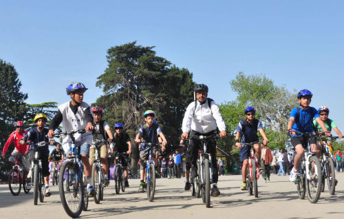 cycle rally at ridge shimla