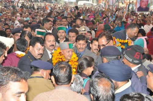 virbhadra singh at Una